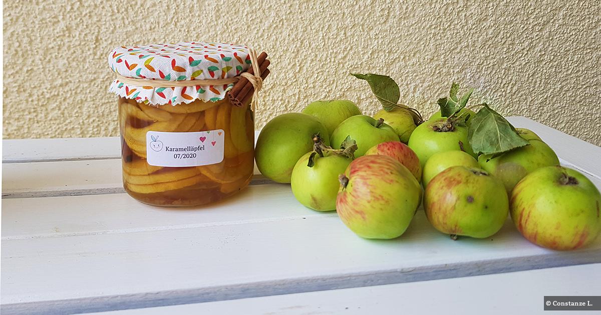 Selbst gemachte Karamelläpfel