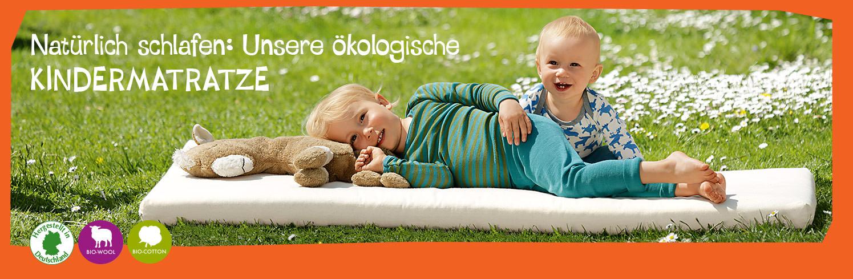 Nat rlich schlafen hochwertige kologische kindermatratze minib r for Beste kindermatratze