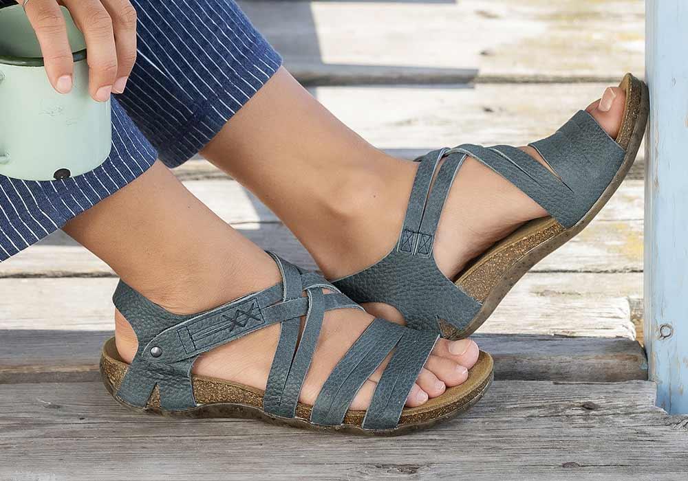 Fashy/® Damen Bio-Slipper Hygiene Sandale mit leichtem Absatz Antibakteriell Rutschhemmend