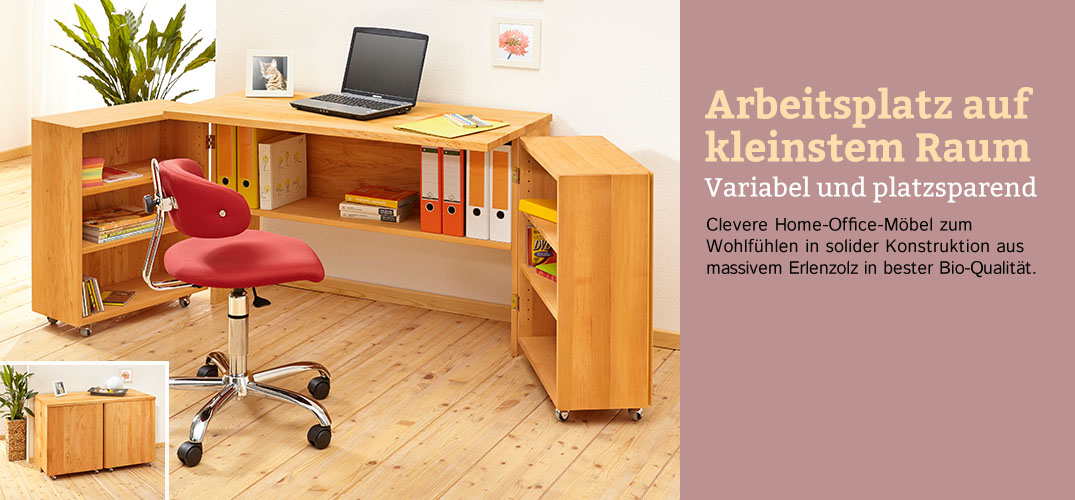 arbeitszimmer erlenholz im waschb r shop bestellen. Black Bedroom Furniture Sets. Home Design Ideas