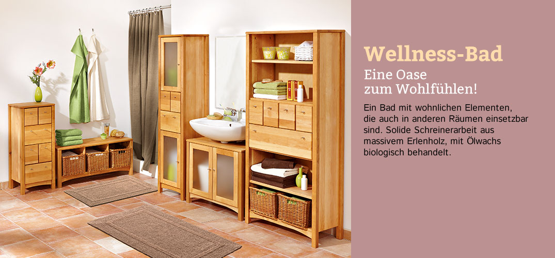 badm bel wellnes bad erlenholz im waschb r shop. Black Bedroom Furniture Sets. Home Design Ideas