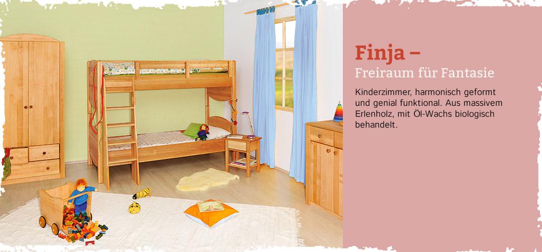 kinderzimmer finja erlenholz im waschb r shop bestellen. Black Bedroom Furniture Sets. Home Design Ideas