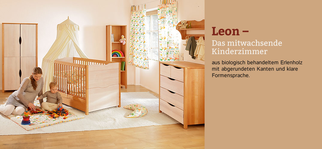 kinderzimmer leon erlenholz im waschb r shop bestellen. Black Bedroom Furniture Sets. Home Design Ideas