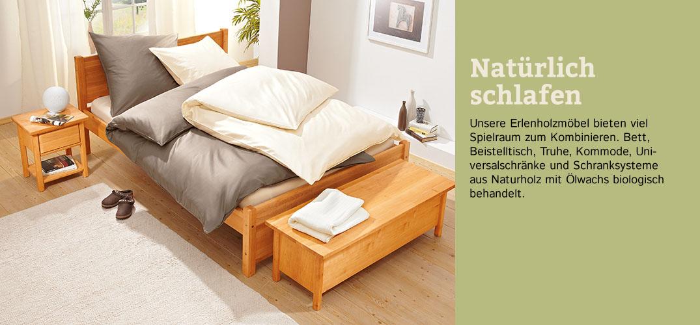 schlafzimmer klare linie erlenholz im waschb r shop. Black Bedroom Furniture Sets. Home Design Ideas