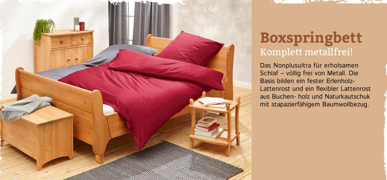 Schlafzimmer metallfrei Erlenholz im Waschbär Shop