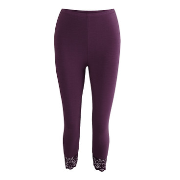 3/4 Leggings, aubergine