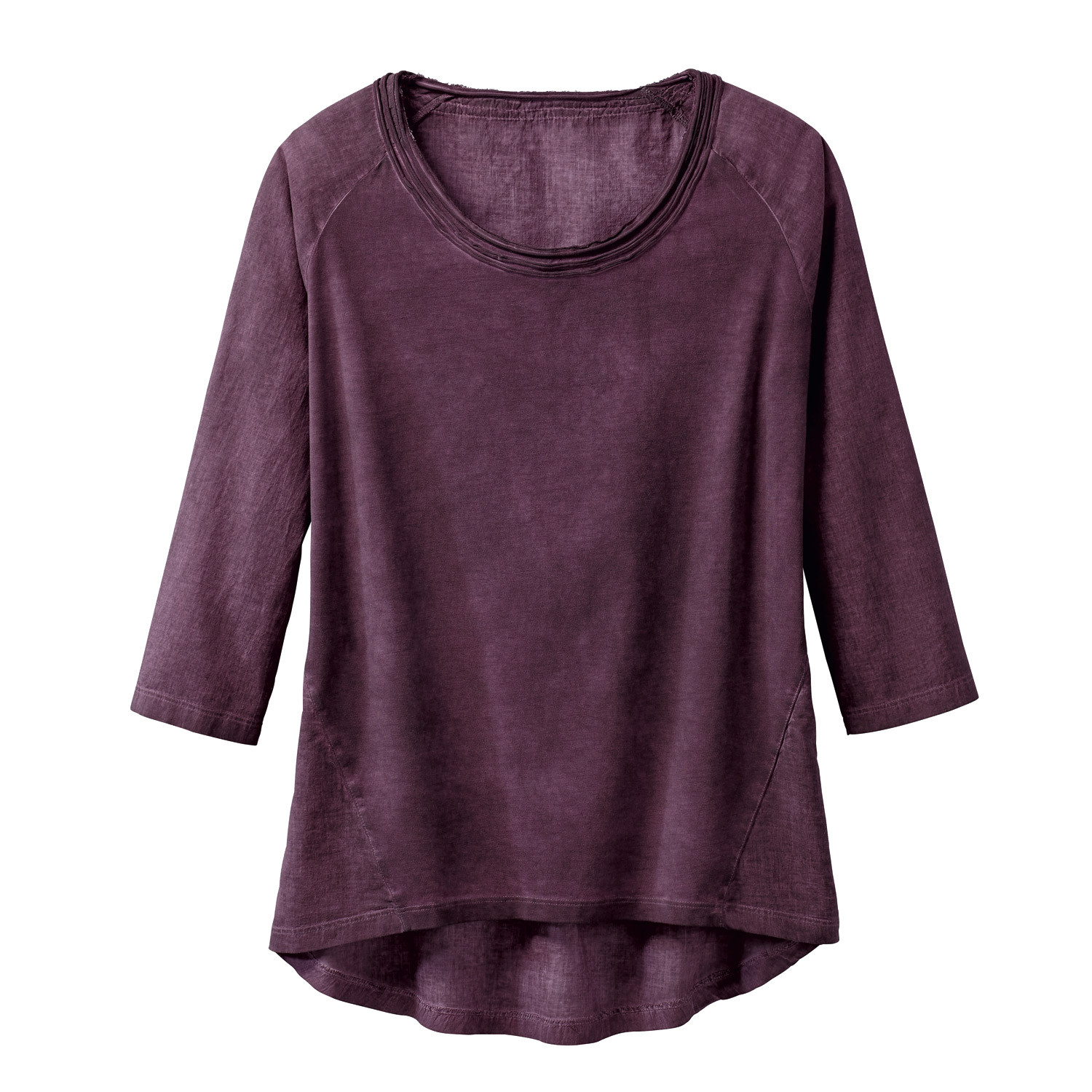 Oversized-Shirt, cassis