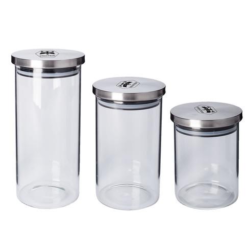 Glas Vorratsdosen 3er Set Waschbar