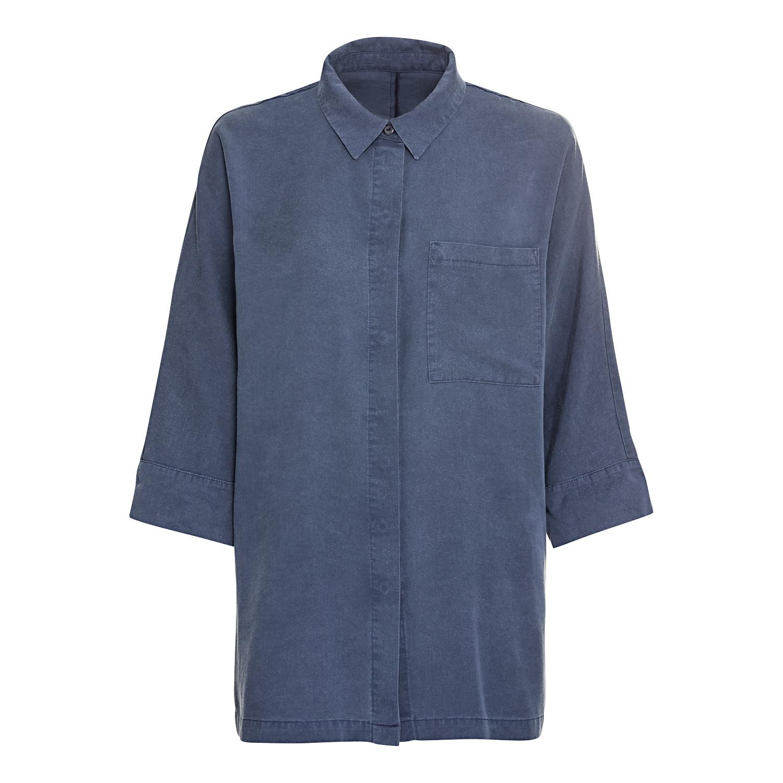 Oversize Bluse aus TENCEL™, nachtblau from Waschbär