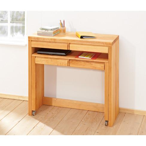 Schminktisch schreibtisch aus erlenholz waschb r for Schreibtisch holz klein