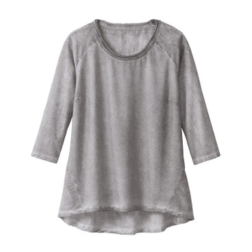 Oversized-Shirt, grau