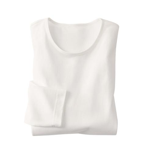 Langarm-Shirt, naturweiß XXL