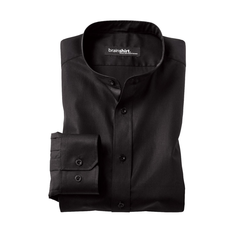 Hemd ELVERUM aus Bio Baumwolle mit Langarm, schwarz from Waschbär