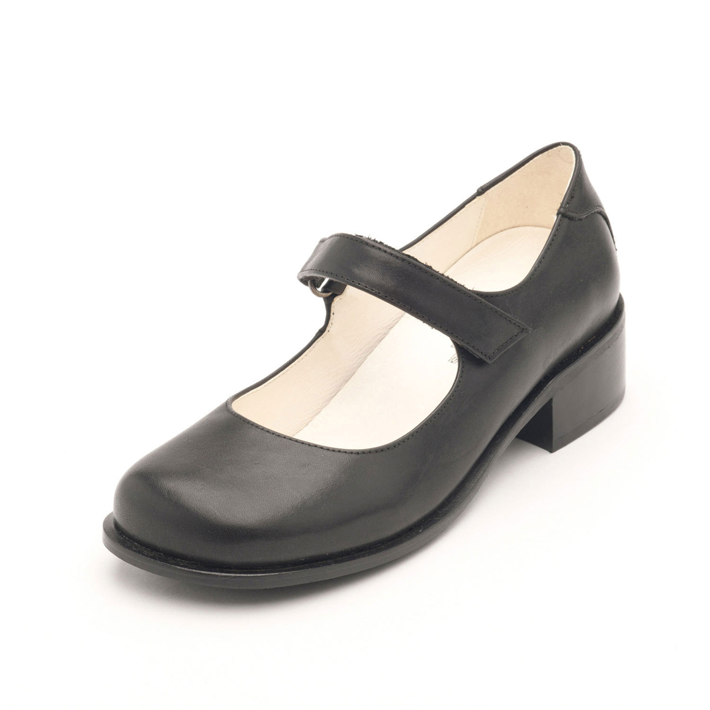 john w shoes pump klassiker mit riemchen schwarz. Black Bedroom Furniture Sets. Home Design Ideas