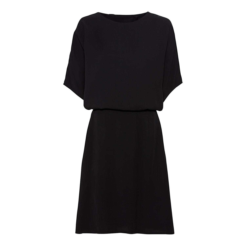 Kleid aus TENCEL™-Fasern mit raffiniertem Rückenausschnitt und Fledermausärmeln, Schwarz from Waschbär