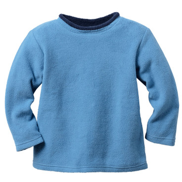 Sweatshirt aus Bio-Fleece, jeansblau