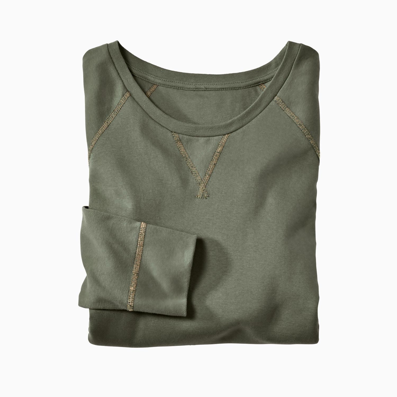 Langarm-Rippshirt aus Bio Baumwolle, khaki from Waschbär