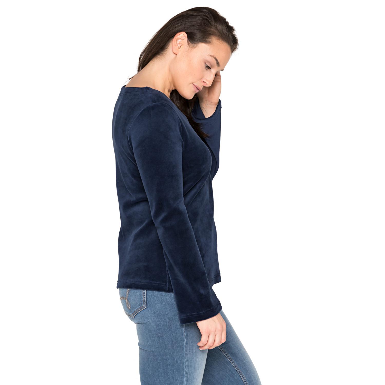 Nicki-Shirt, Langarm aus Bio-Baumwolle, nachtblau from Waschbär