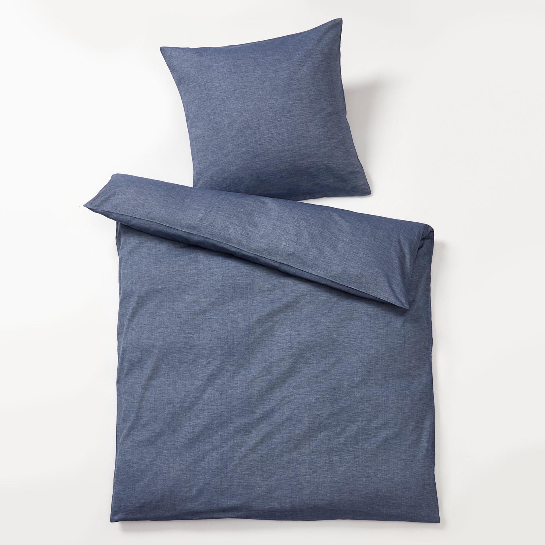 melange flanell bettw sche blau. Black Bedroom Furniture Sets. Home Design Ideas