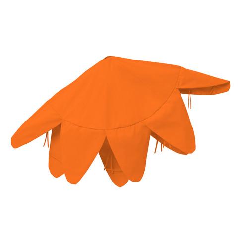 Deko-Haube groß, orange - broschei