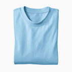 Basic-T-Shirt, bleu