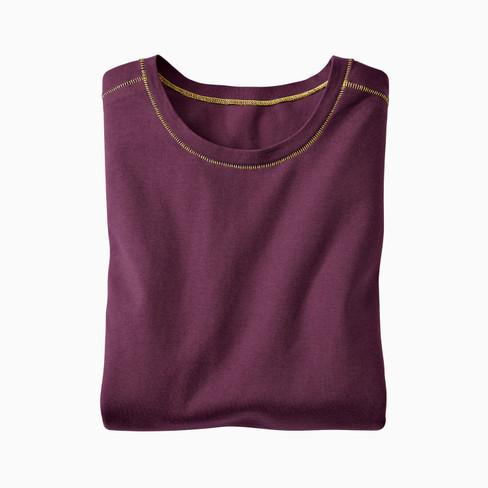 Langarm-Shirt, plum XXL