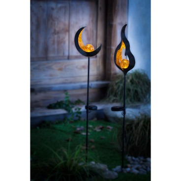 Solar-Gartenstecker Flamme