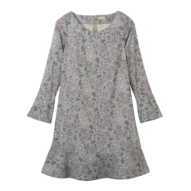 Kleid mit Paisleymuster aus Bio-Baumwolle, blau-gemustert from Waschbär