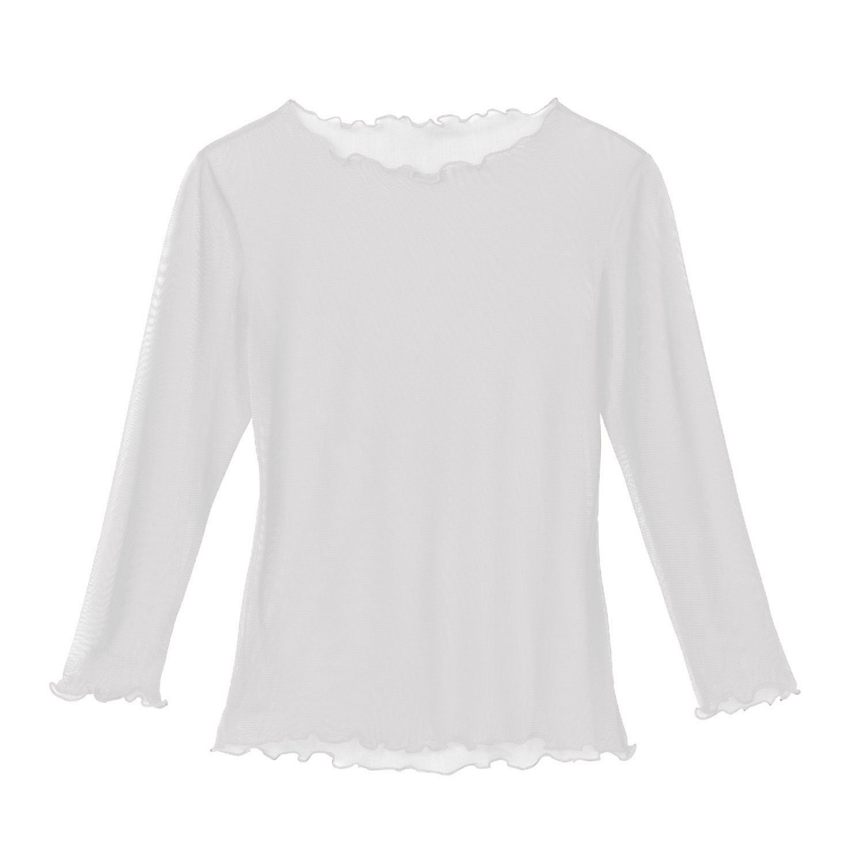 Transparentes Shirt aus Bio-Seide, naturweiß from Waschbär