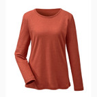 Hanf-Langarm-Shirt, orange