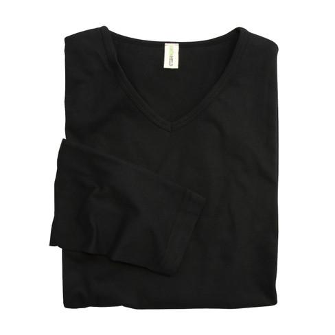 V-Langarm-Shirt, schwarz XXL