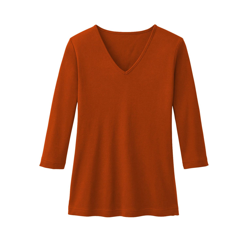 V-Shirt aus Bio Baumwolle, papaya from Waschbär