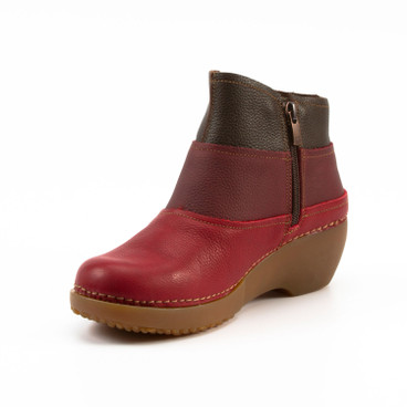 "Bootie ""Tricot"", rot-mix"