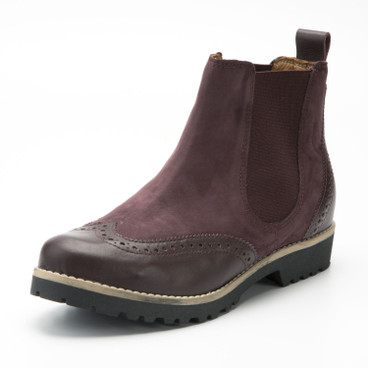 Chelsea-Boot, bordeaux