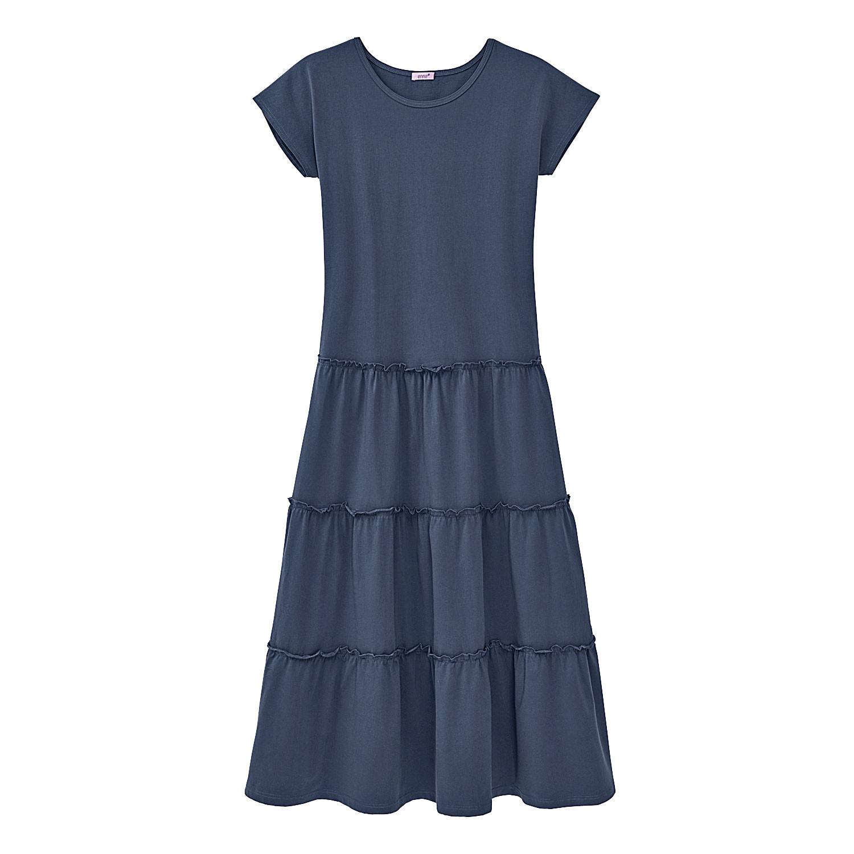 Jerseykleid, rauchblau from Waschbär
