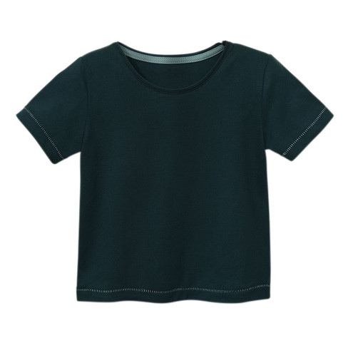 Kurzarmshirt aus Bio-Baumwolle, smaragd
