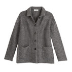 Jacquard-Strickjacke, anthra-taupe