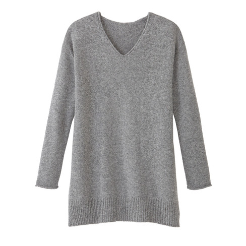 long pullover kiesel 44 46 auf rechnung kaufen damen pullover strickjacken. Black Bedroom Furniture Sets. Home Design Ideas