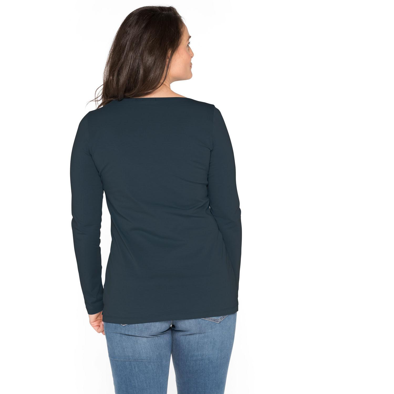 Langarmshirt aus Bio-Baumwolle, nachtblau from Waschbär