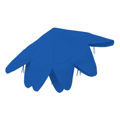 Deko-Haube groß, blau - broschei