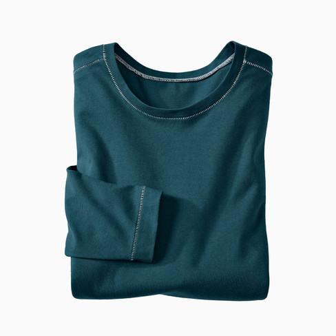 Langarm-Shirt, smaragd XXL