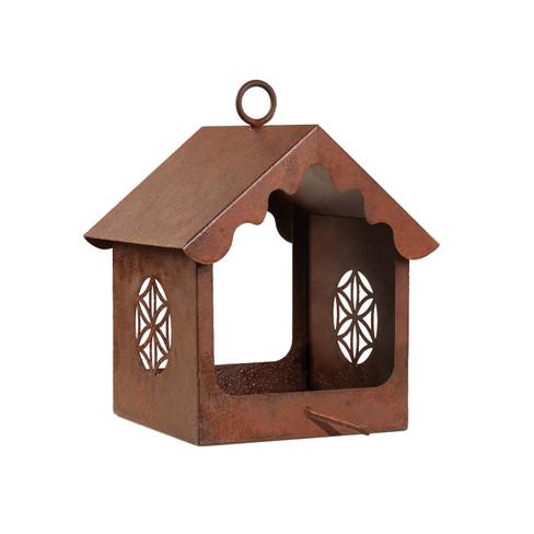Edelrost-Vogelfutterhaus ´´Saat des Lebens´´