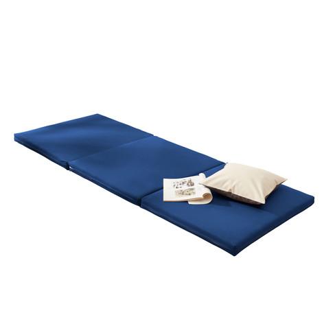 Gästematratze, blau L 200 x B 80 H 7 cm - broschei