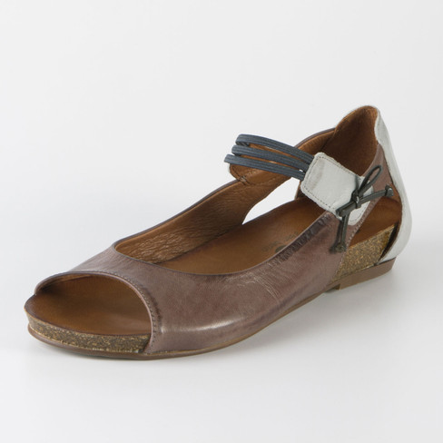 Sandale, schoko/grau 40