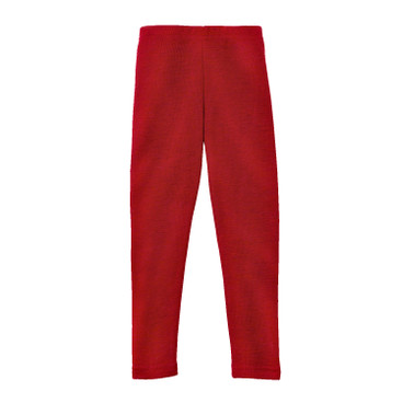 Kinder-Leggings aus Bio-Wolle, rot