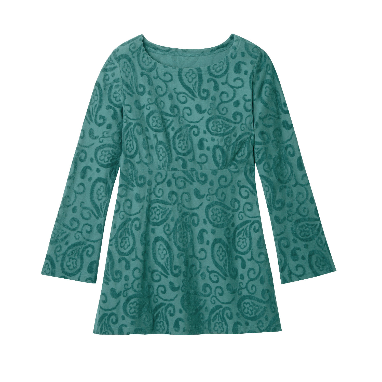 Nickitunika mit Paisley-Muster, aus Bio-Baumwolle, smaragd from Waschbär