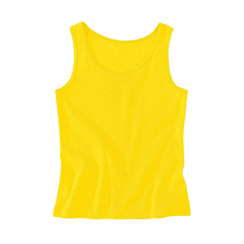 Trägertop aus Bio-Baumwolle, gelb 46