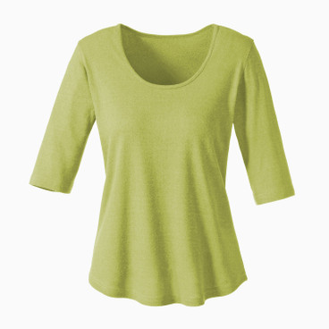Bourrette Shirt mit Kurzarm, avocado
