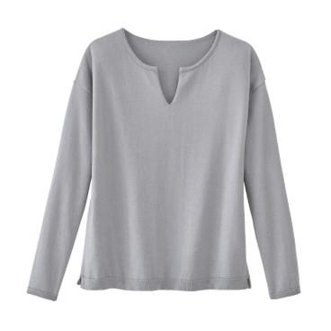 Schwarzer Pullover mit Streifen Nacadamia