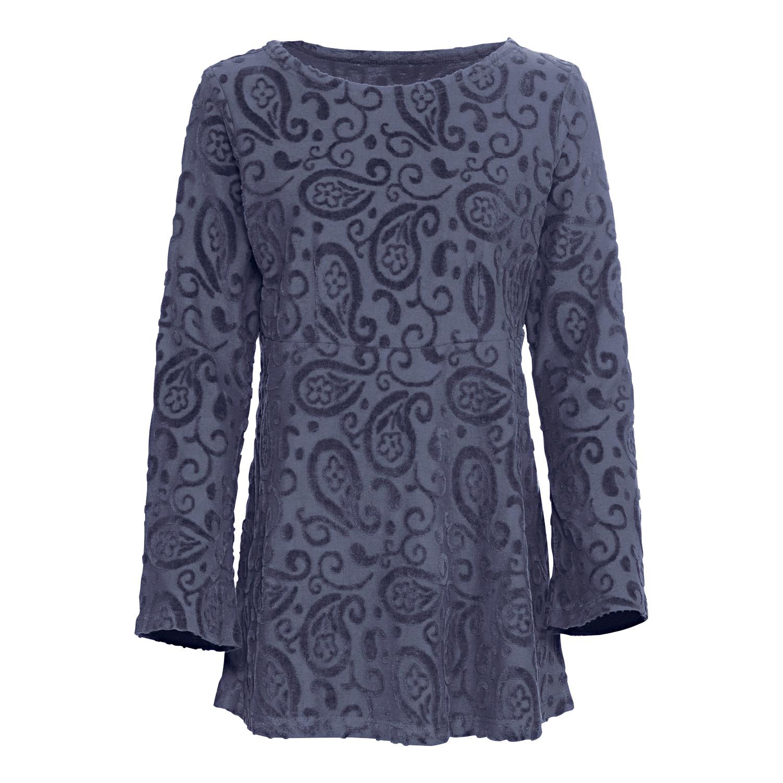 Nickitunika mit Paisley-Muster, aus Bio-Baumwolle, nachtblau from Waschbär